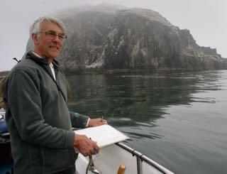 John Busby by the Bass Rock