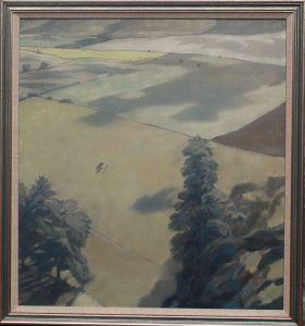 Landscape for a Hunting Kestrel