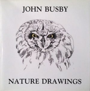 book cover of Nature Drawings by John Busby showing face of Owl